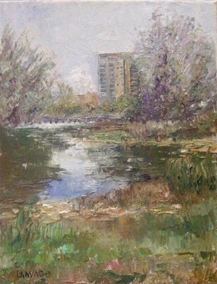 """A Bit of City Showing"" original fine art by Judy Usavage"