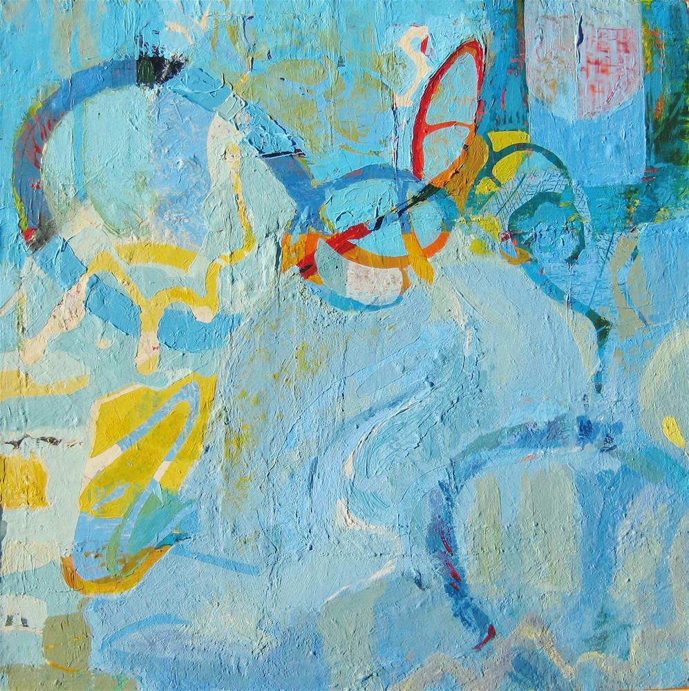 """Gear Up"" original fine art by Priscilla Bohlen"