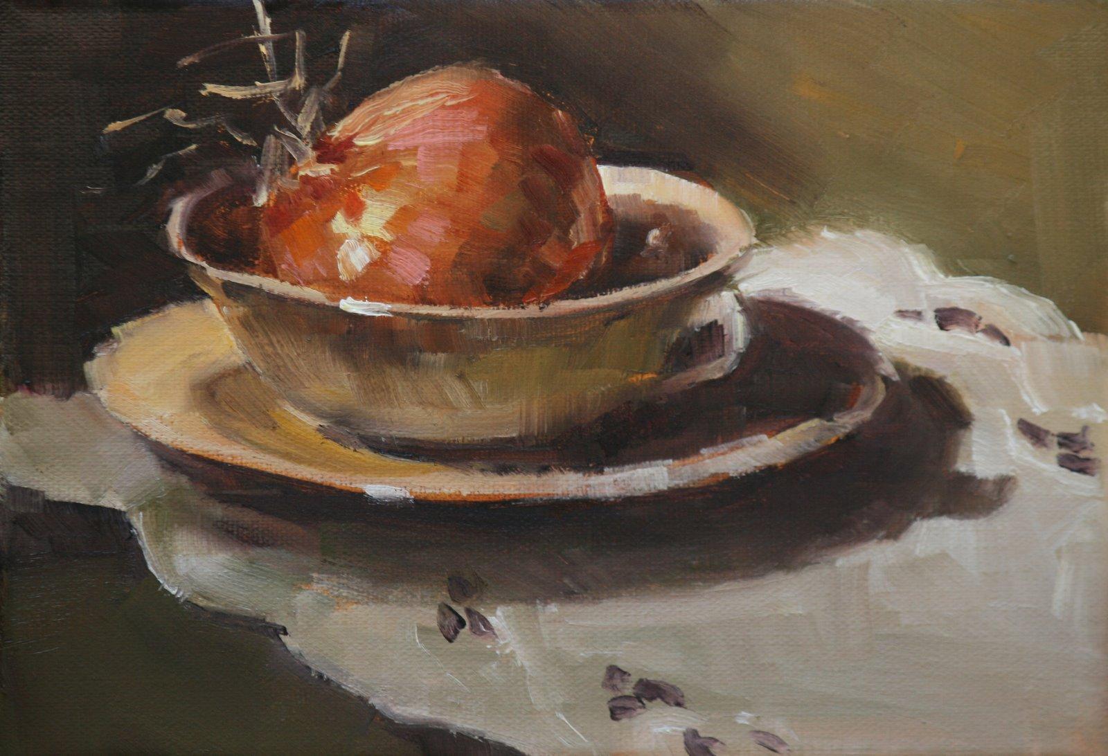 """""""sweet onion"""" original fine art by Carol Carmichael"""