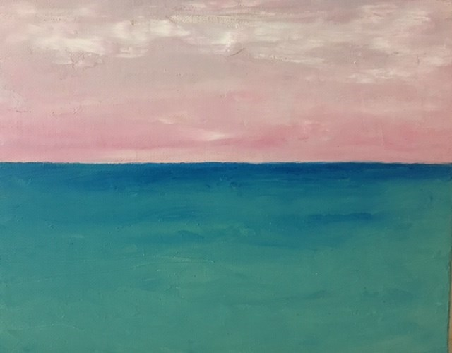 """""""Pink Sky"""" original fine art by Karen Collins"""