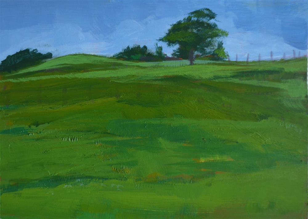 """Swiss Village Farm"" original fine art by Cindy McDonough"