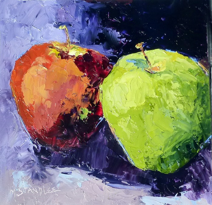 """Sandbridge Apples (private collection)"" original fine art by Nancy Standlee"