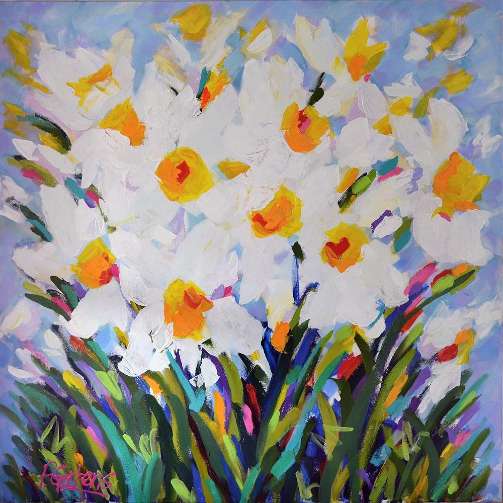 """""""Daffodil Meadow"""" original fine art by Pamela Gatens"""