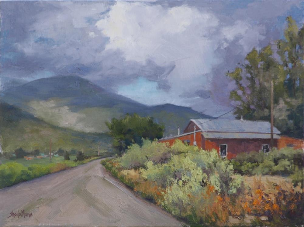 """""""Storm Clearing at Rim Road"""" original fine art by Sheila Marie"""