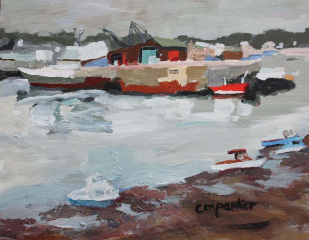 """Isle of Mann, Boats"" original fine art by Christine Parker"