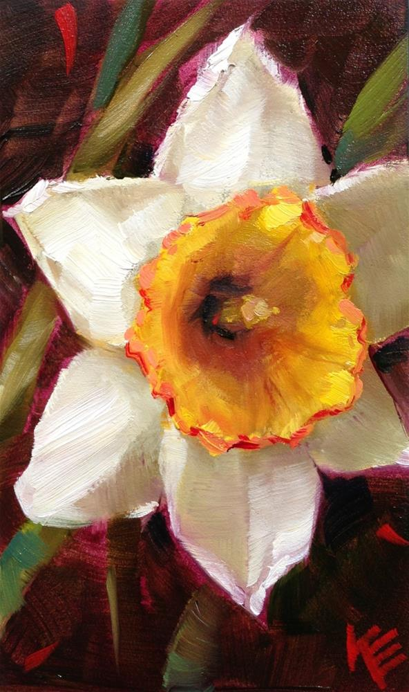"""Bursting Bloom"" original fine art by Krista Eaton"