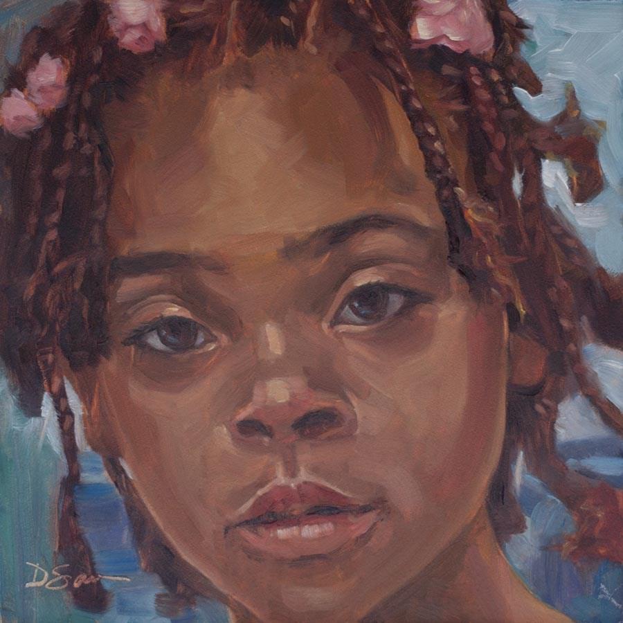"""""""Eyes of Love No.20 Relisha"""" original fine art by Deborah Savo"""