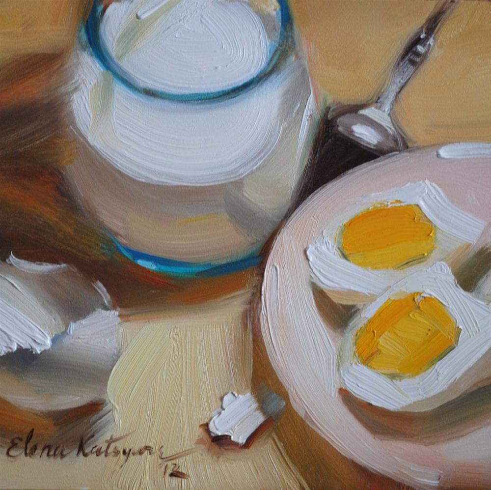 """Breakfast"" original fine art by Elena Katsyura"