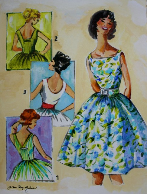 """Sexy Backs"" original fine art by JoAnne Perez Robinson"