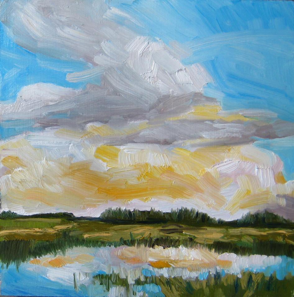 """""""Reflection At Dusk"""" original fine art by Nicki Ault"""