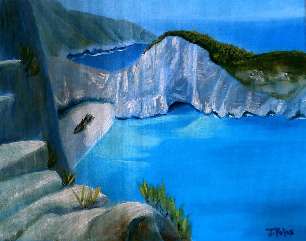 """Shipwreck"" original fine art by Joann Polos"