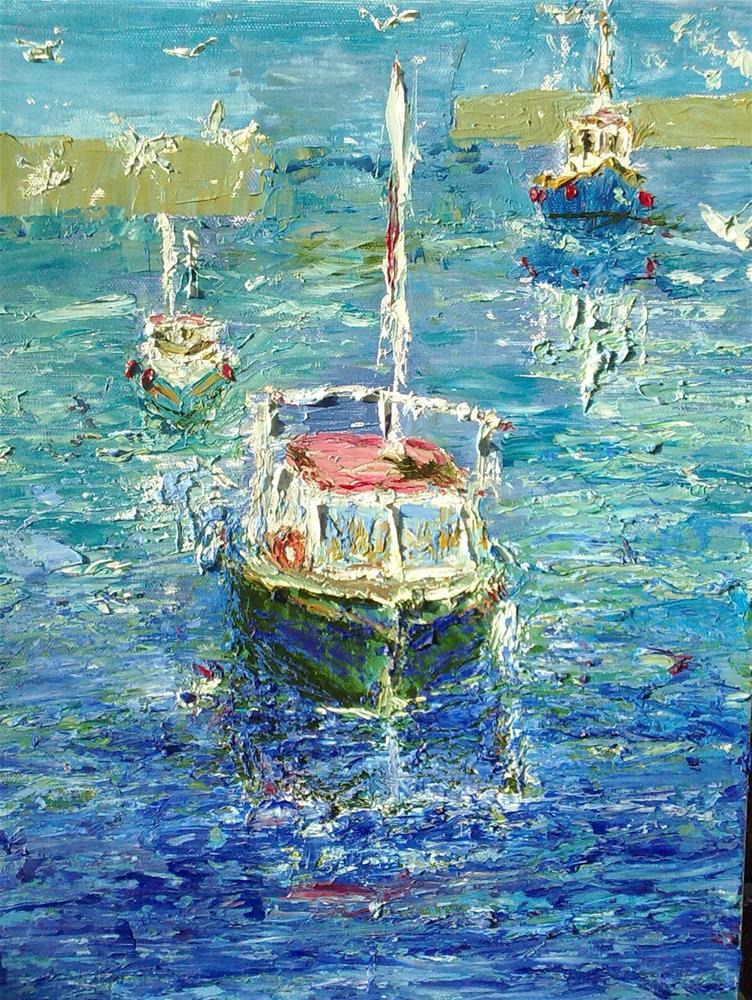 """With Gulls Following!"" original fine art by Jules Fine Art Gallery"