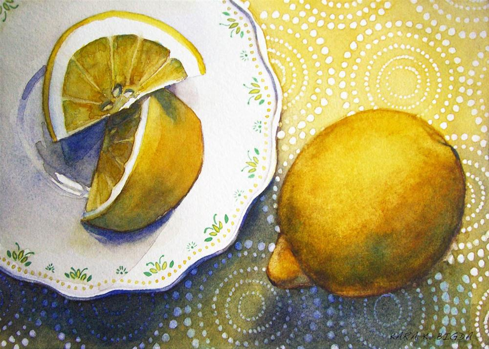 """Lemon Wedges"" original fine art by Kara K. Bigda"