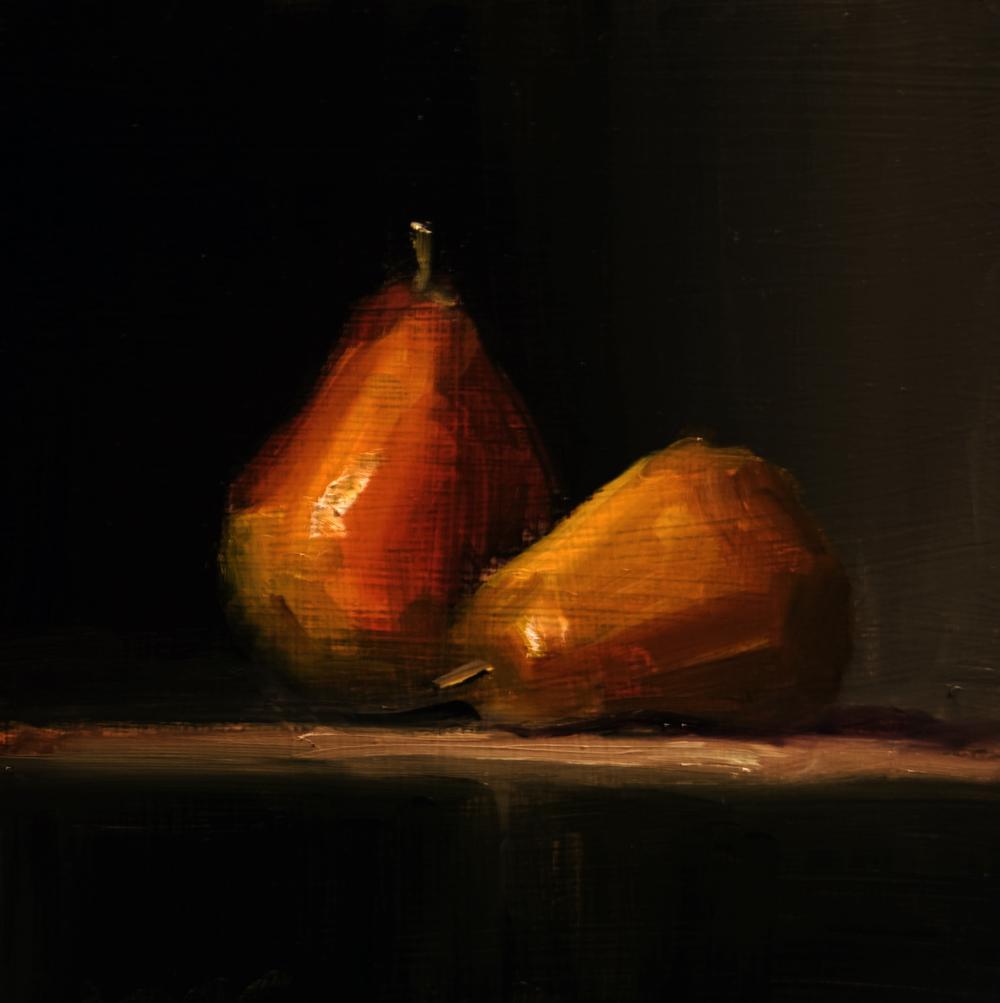 """""""Pears"""" original fine art by Neil Carroll"""