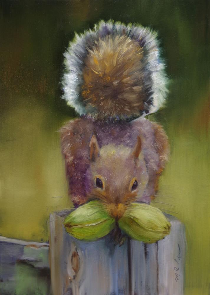 """Ah Nuts"" original fine art by Marilyn R. Place"