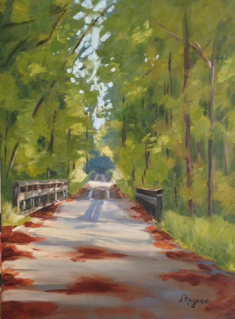 """Tobacco Trail"" original fine art by Karen D'angeac Mihm"