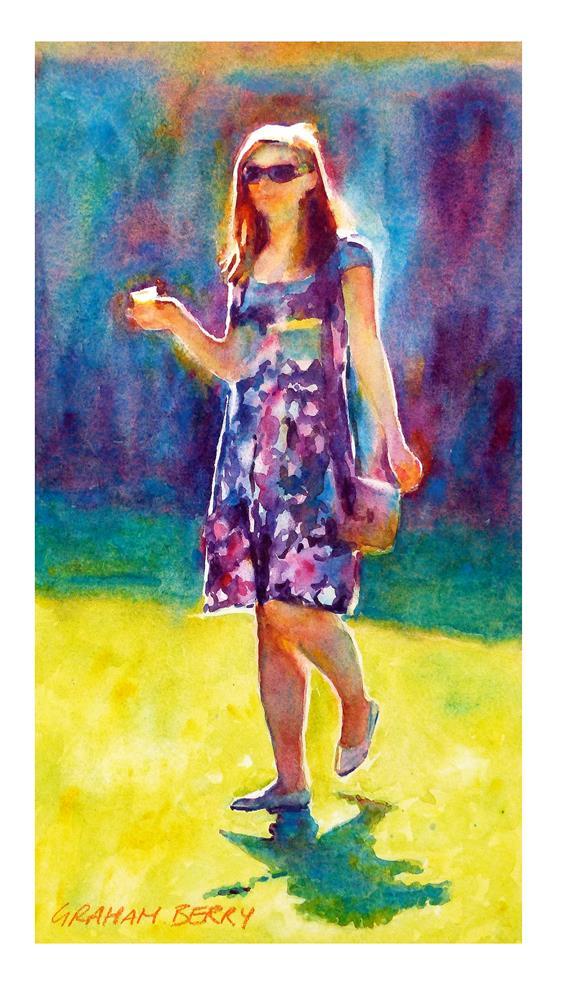 """""""Summer girl"""" original fine art by Graham Berry"""