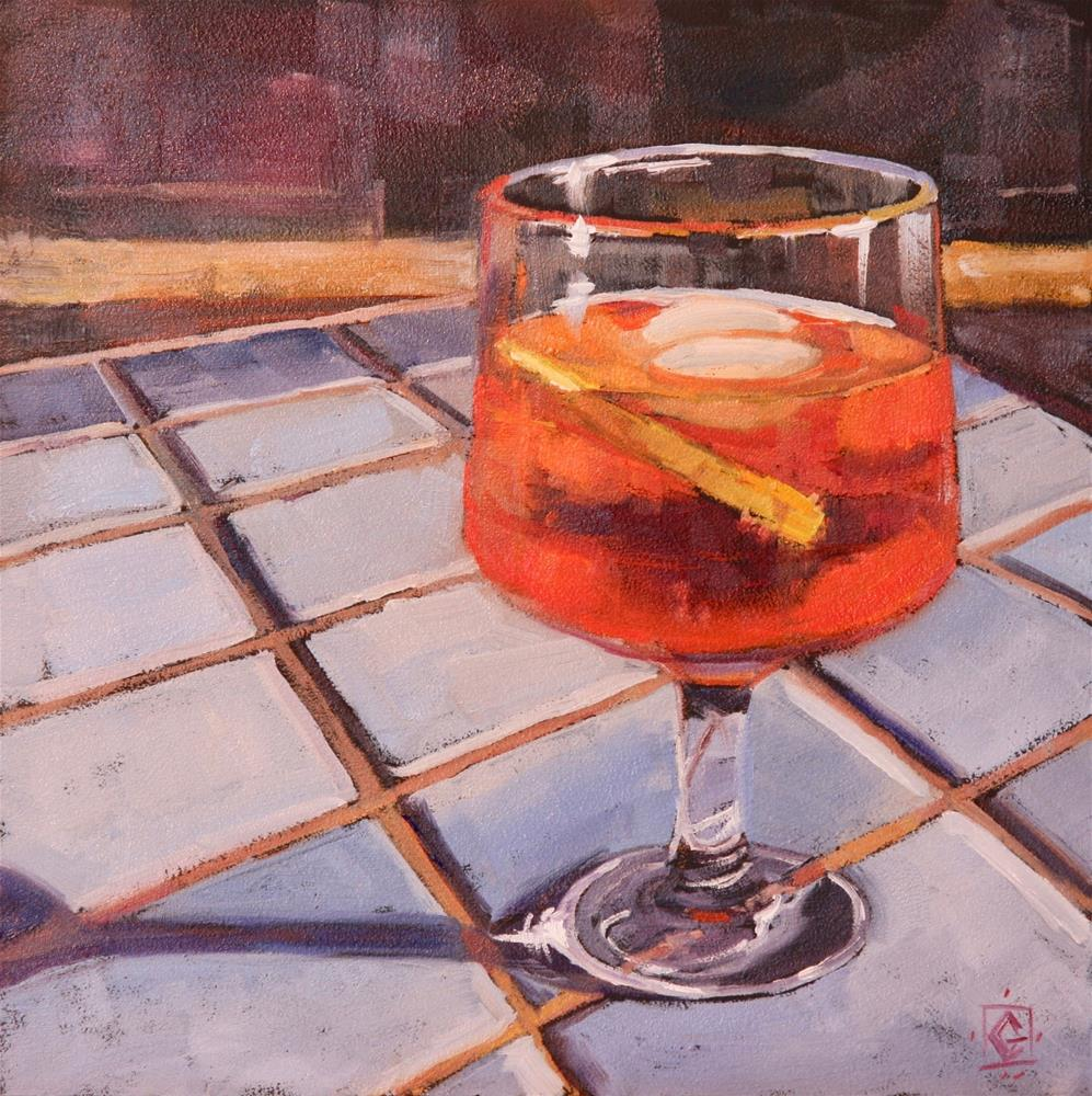 """When In Italy"" original fine art by Carol Granger"