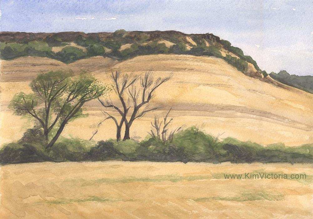 """View from Sundale of Table Mountain"" original fine art by Kim Victoria"