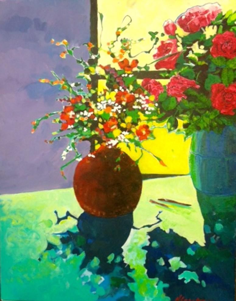 """Winter Sun"" original fine art by Nancy Lasater"