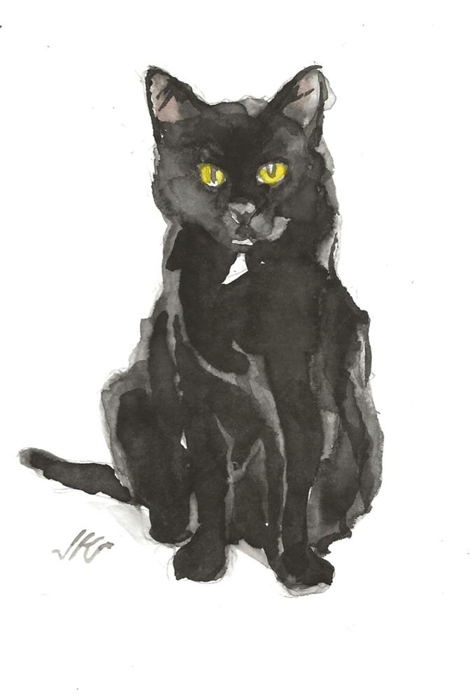 """Daily Cat 170"" original fine art by Jean Krueger"
