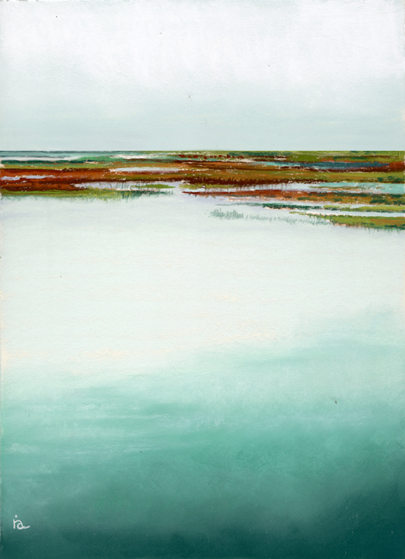 """Salt Marsh at noon"" original fine art by Ria Hills"
