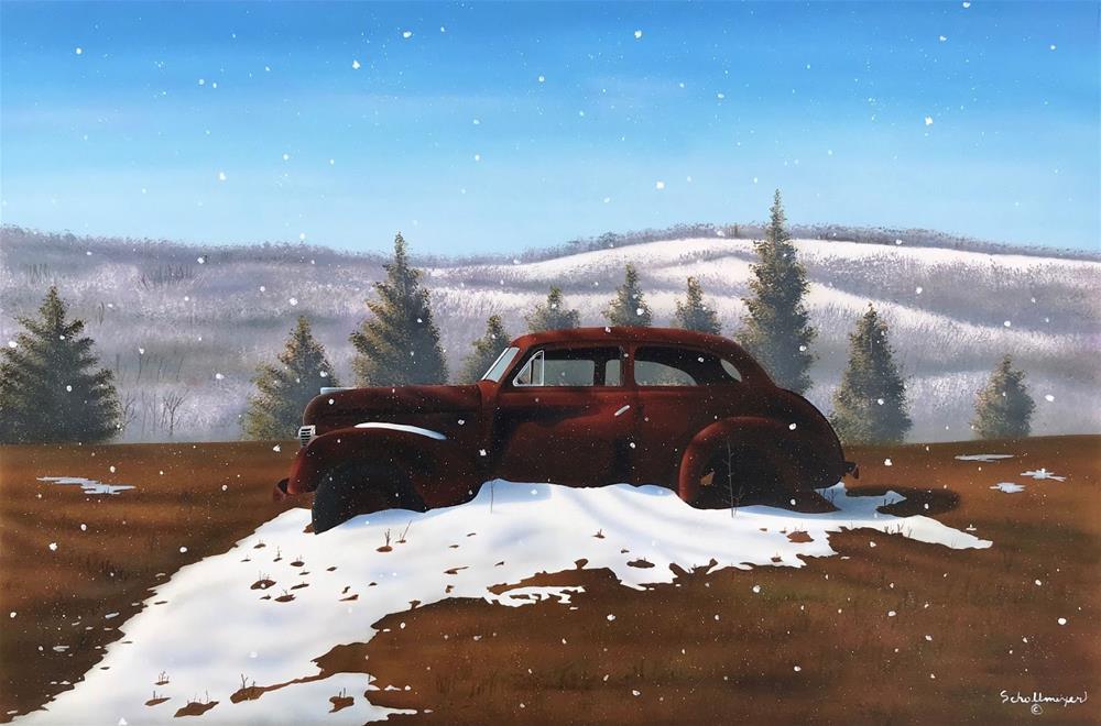 """Sun, Snow & Rust"" original fine art by Fred Schollmeyer"