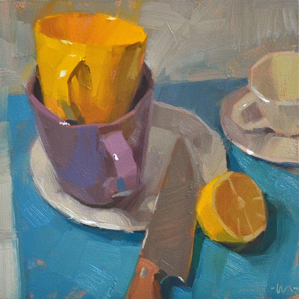 """Poised"" original fine art by Carol Marine"