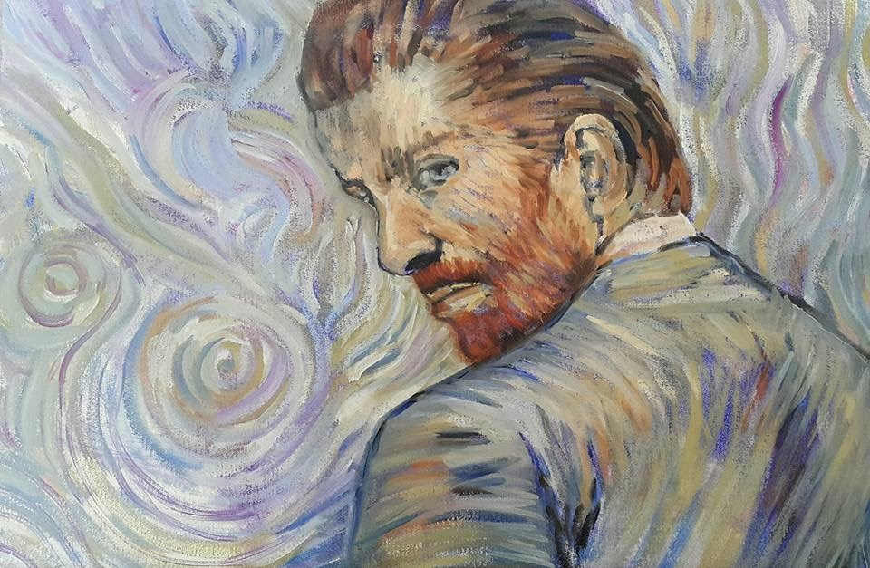 """""""My take on Van Gogh"""" original fine art by Rentia Coetzee"""