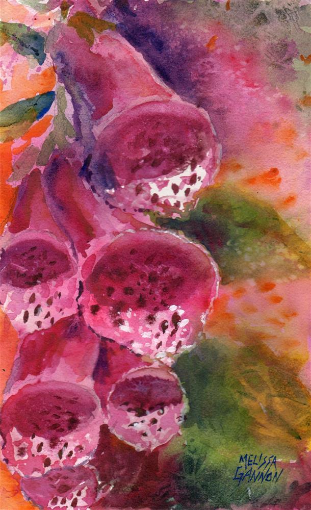 """""""Foxglove"""" original fine art by Melissa Gannon"""