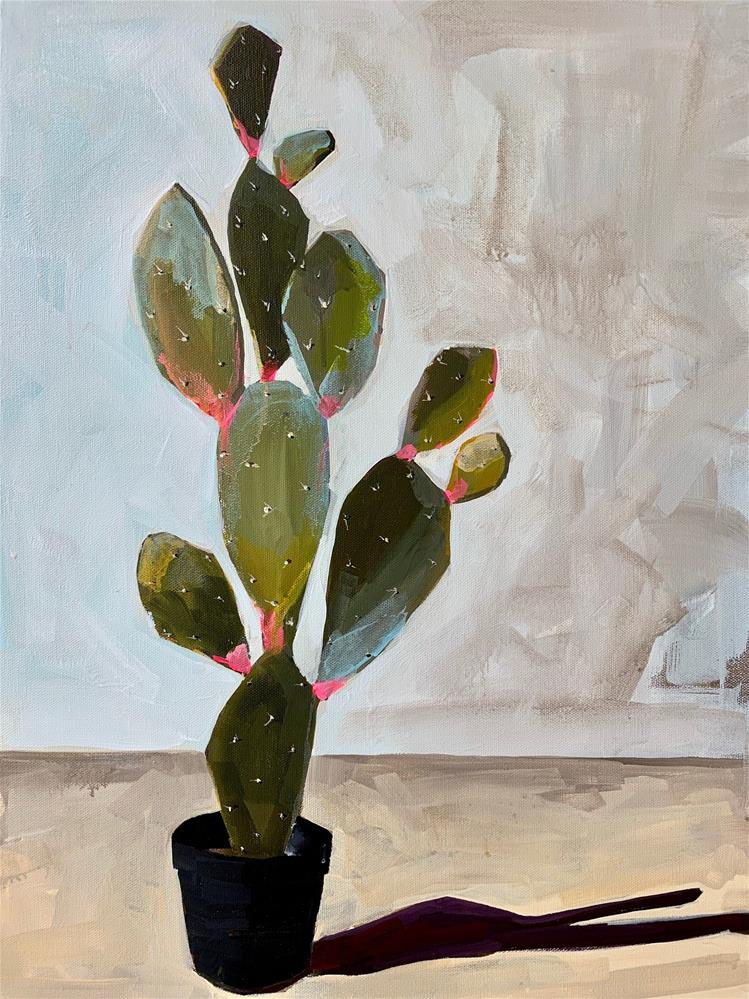 """692 Cactus"" original fine art by Jenny Doh"
