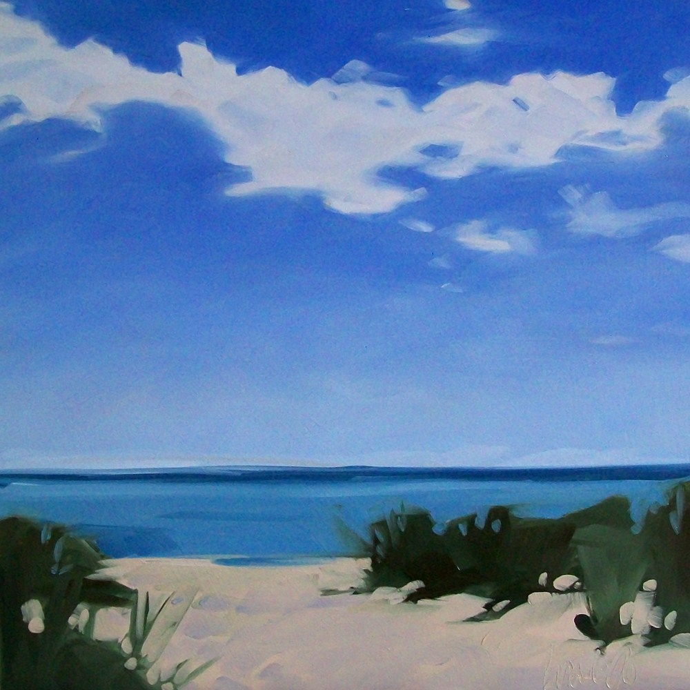 """Beach sky"" original fine art by Brandi Bowman"
