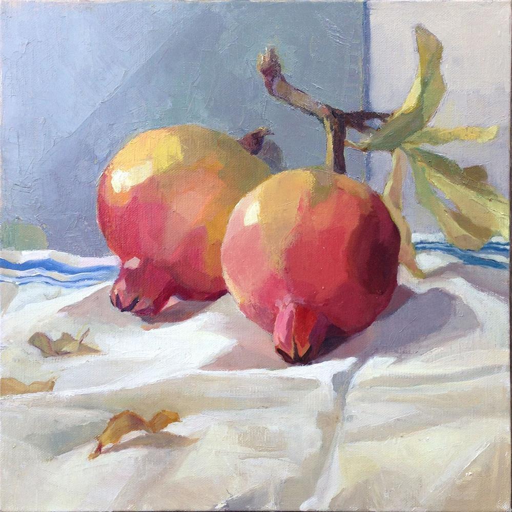 """Last of the Pomegranates"" original fine art by Myriam Kin-Yee"