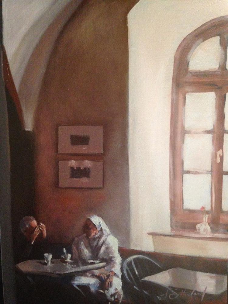 """Conversation"" original fine art by Janet Setterland"
