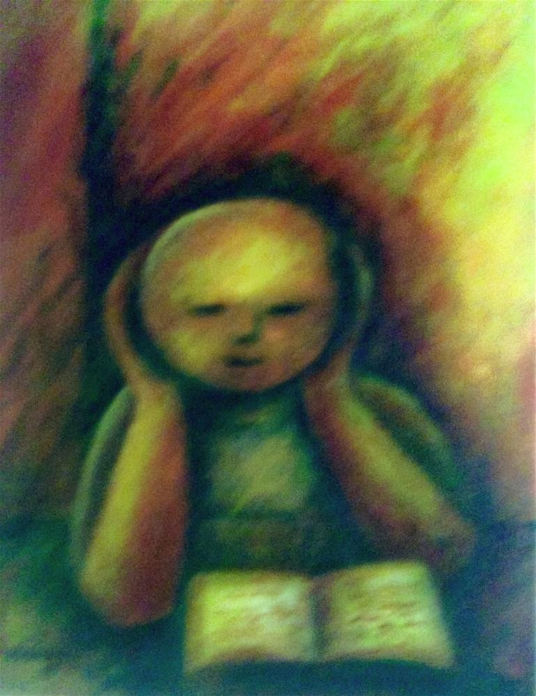 """Child Reading"" original fine art by Giovanni Antunez"