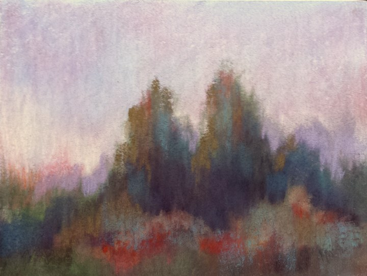 """Tree Line #30"" original fine art by Cindy Haase"