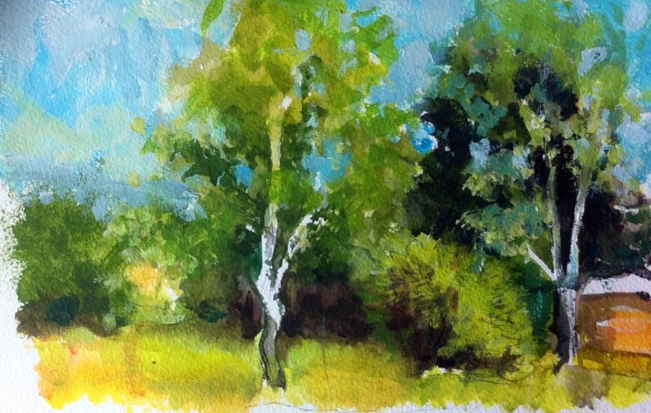 """Land-abstractscape I"" original fine art by Adebanji Alade"