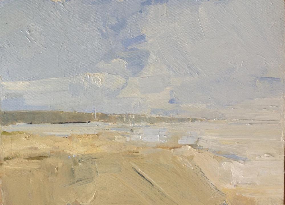 """Across the Inlet 9x12 oil  Plein air"" original fine art by Deborah R Hill"