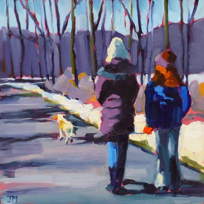 """Walking with Mayzie"" original fine art by Jessica Miller"