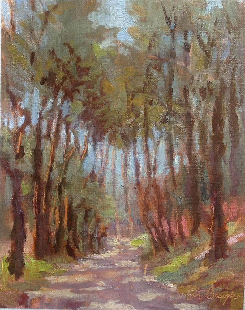 """""""Path in the forest"""" original fine art by Christine Bayle"""