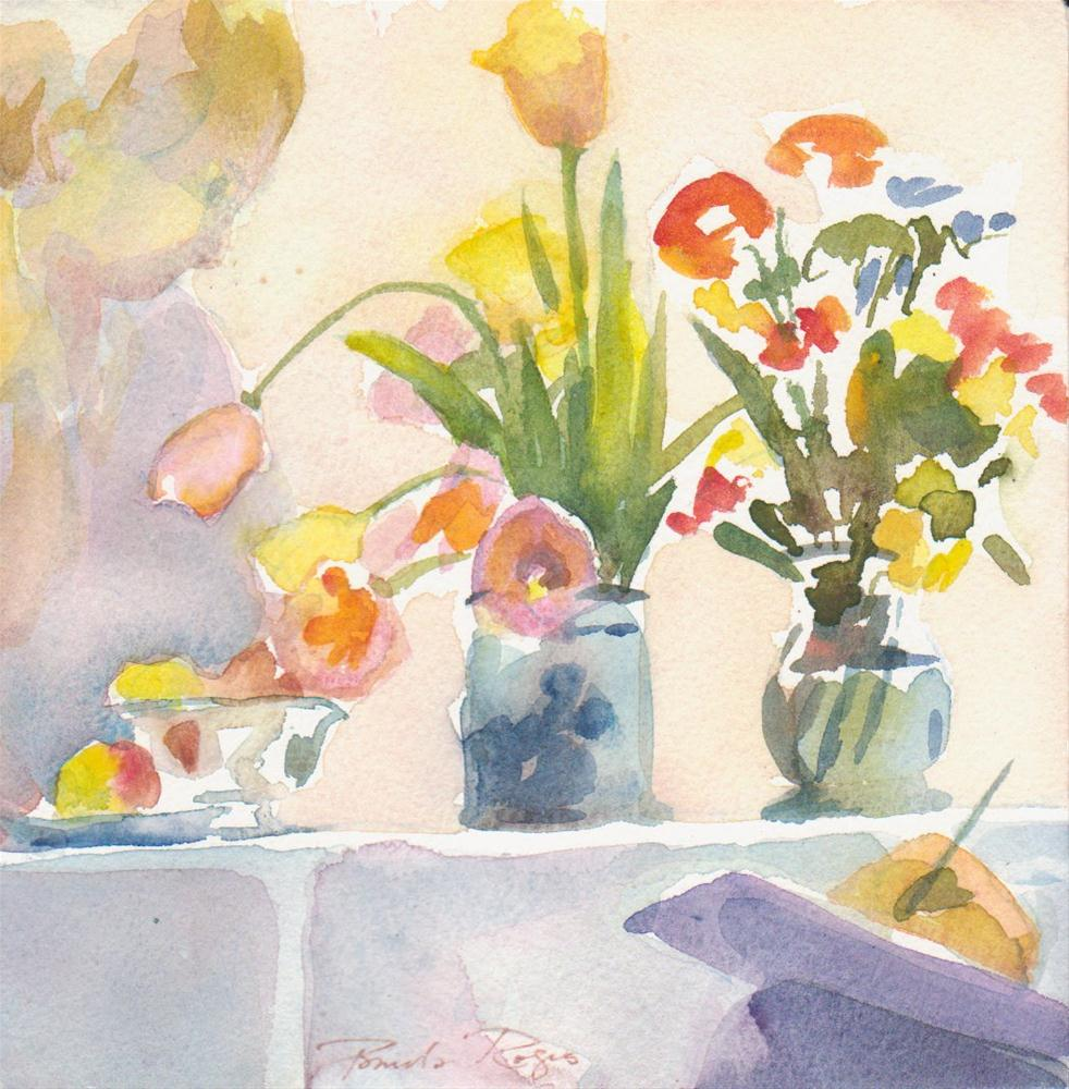 """""""Composition with Tulips"""" original fine art by Pamela Jane Rogers"""