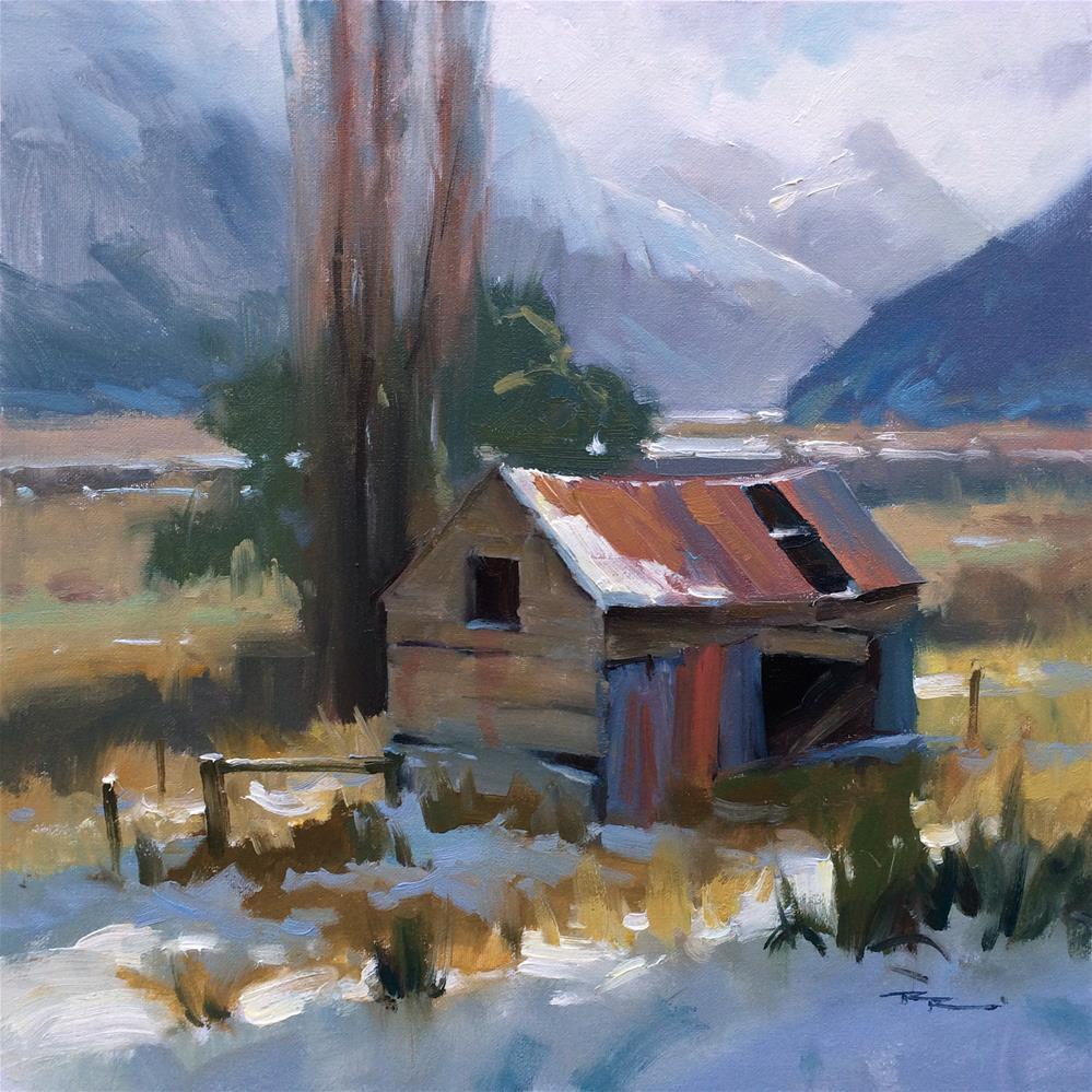 """First Snow"" original fine art by Richard Robinson"