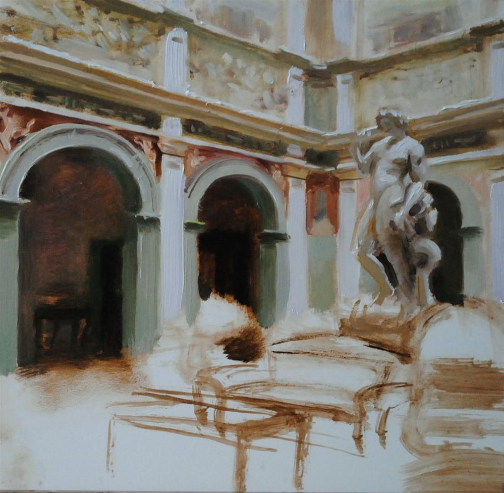 """Unfinished"" original fine art by Elena Katsyura"