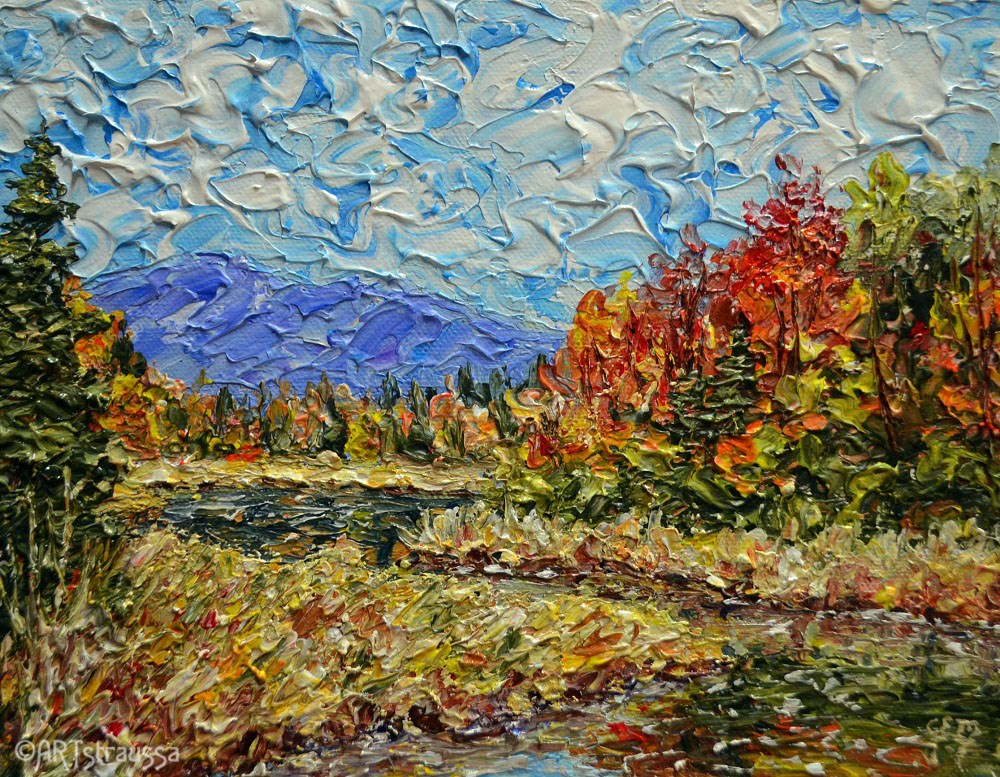 """Autumn In Maine"" original fine art by Gloria Ester"