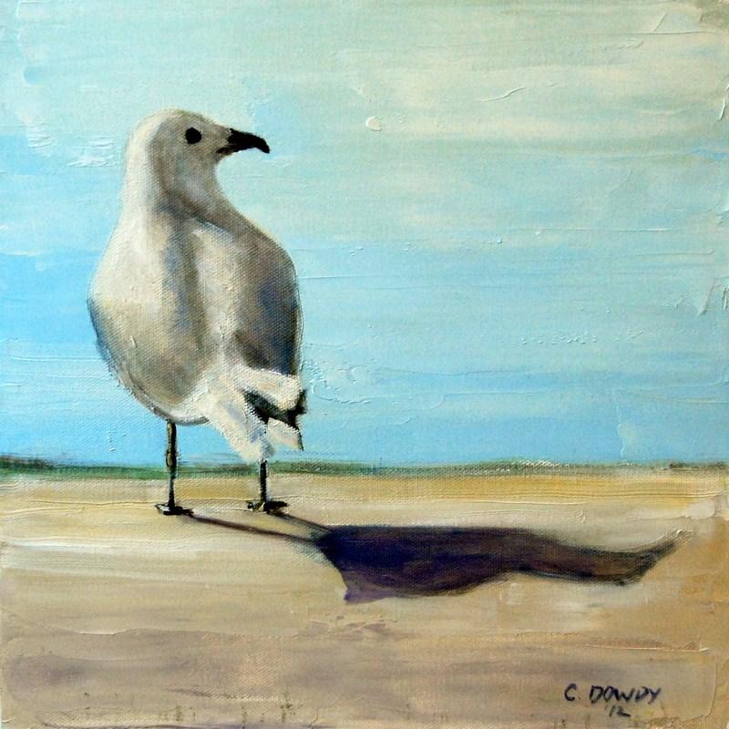 """Seagull"" original fine art by Christina Dowdy"