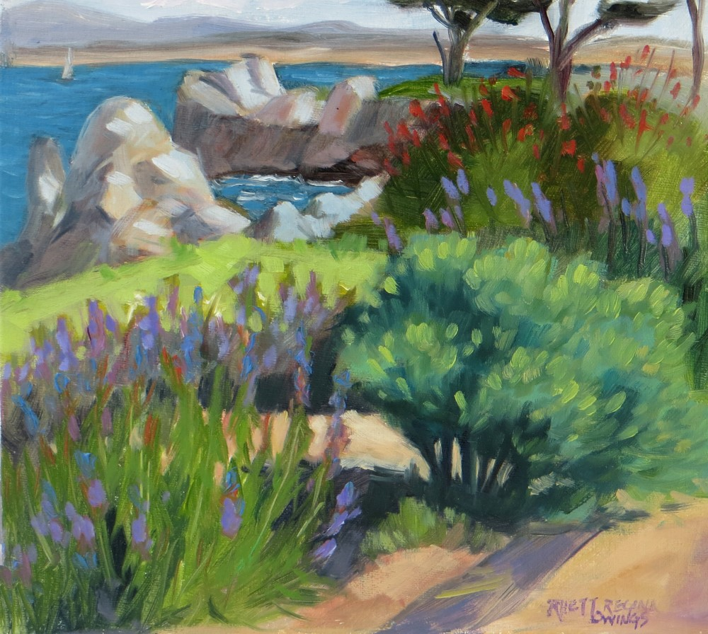 """Lovely Day by the Sea"" original fine art by Rhett Regina Owings"