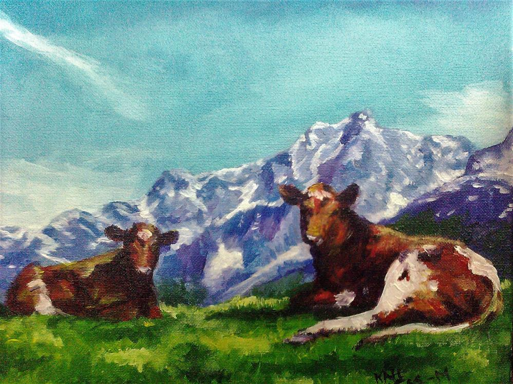 """Norwegian Reds"" original fine art by Kate Less-Madsen"