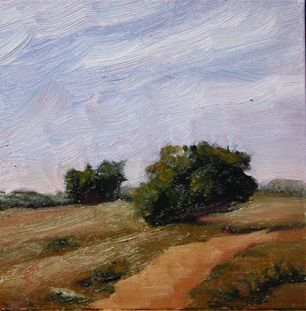 """Parched Range"" original fine art by Jane Frederick"