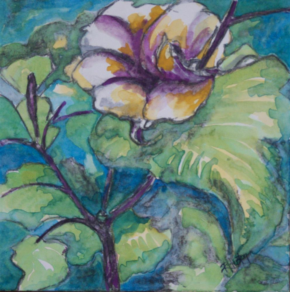 """Botanical Garden 15"" original fine art by Richard Huston"