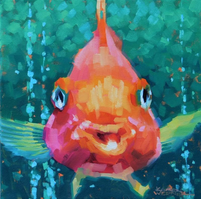"""""""Blub"""" original fine art by Karen Werner"""